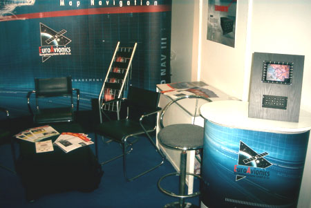 Left view of the booth