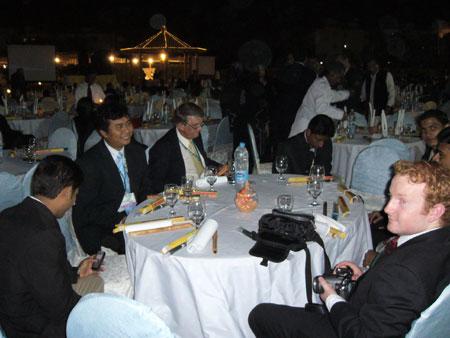 At the Organiser's Dinner Reception