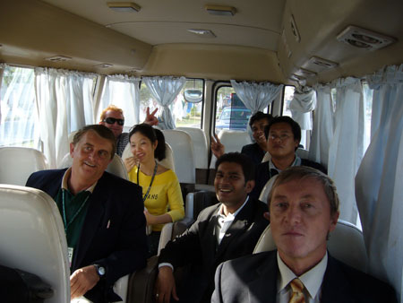 Last day on the bus back to the hotel