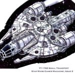 A YT-1760 freighter designed and drawn by Jeff Carlisle