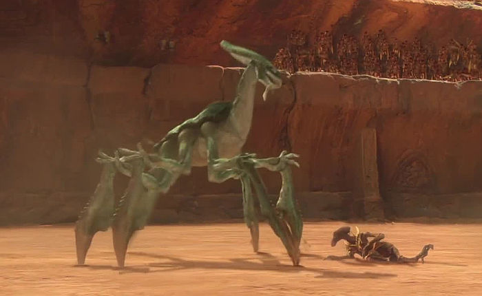 An acklay on Geonosis
