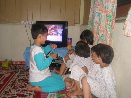 Irfan plays with second cousins