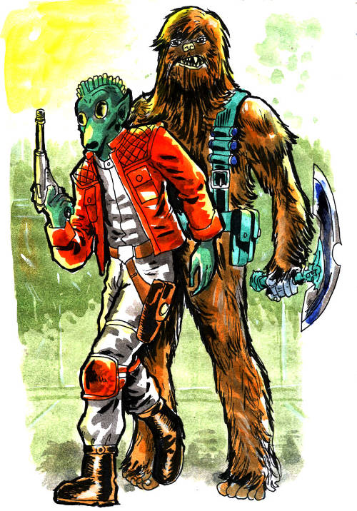 Reelo Jackson and Bob the Wookiee