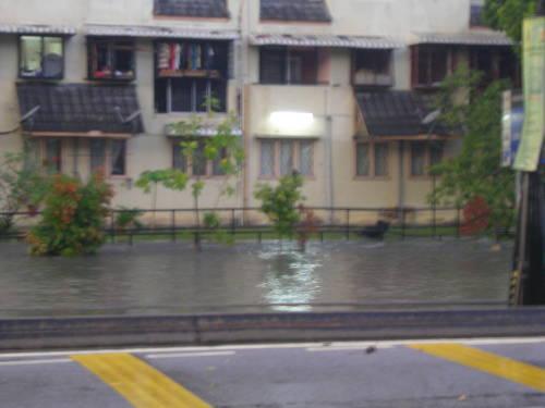 Submerged main road