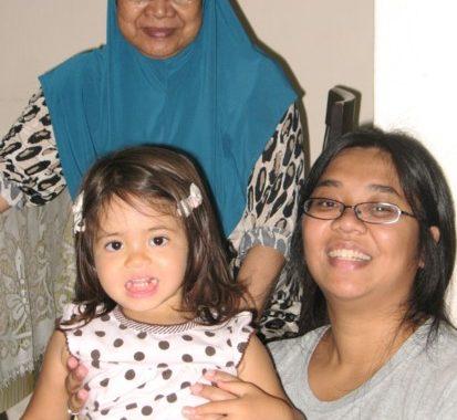 Mak Lan, myself and Yaya