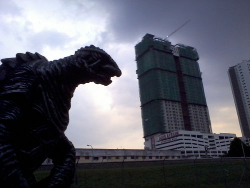 Gamera has a bone to pick with the Pandan Indah train station