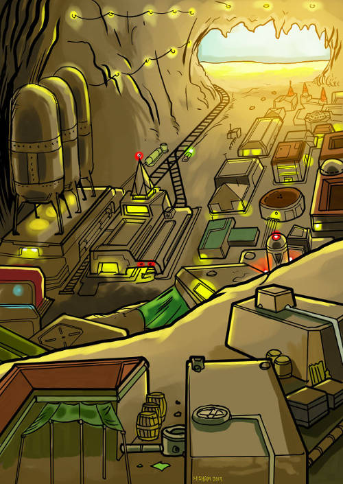 A major underground city