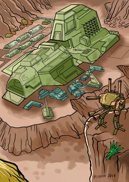 A militaristic settlement