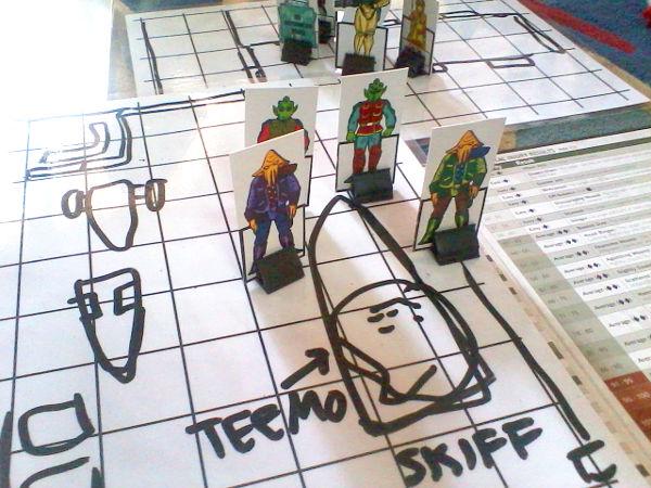 Four combatants vs four combatants