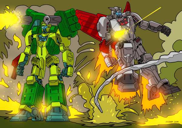 Guardian transformable fighter mecha