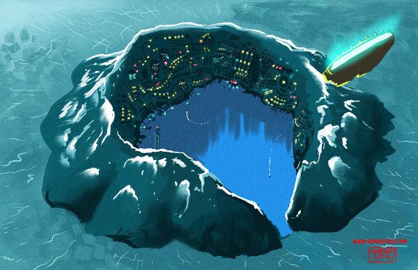 Approaching Obsidian Island