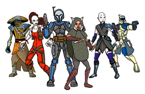 Players in the Clone War