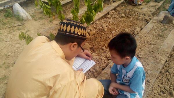 Aiman listens to Irfan's recitation