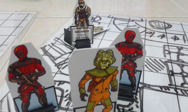These aren't Guavian Enforcers in the game. They're only drawn that way on the paper miniature
