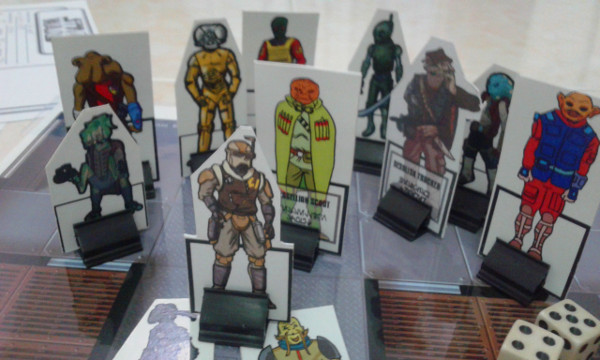 So these randomly-grabbed paper miniatures became the basis of actual NPCs during the game