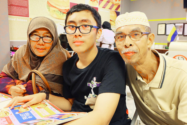 Irfan with Opah and Atok