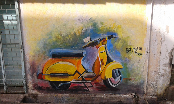 A Vespa by Putrajaya artists