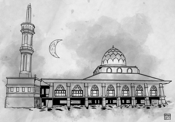 The masjid over the sea