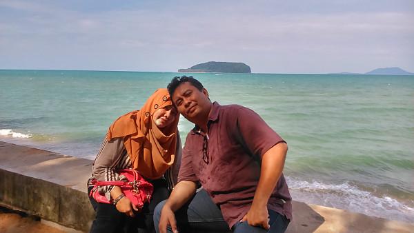 Island behind us