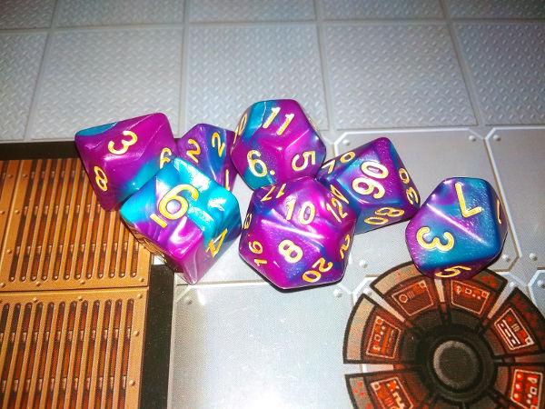 Purple-Blue dice