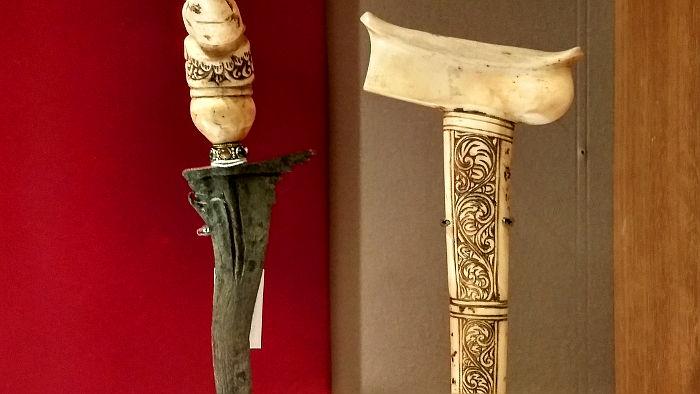 Ivory hilted keris