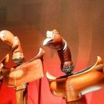 Wooden keris hilts