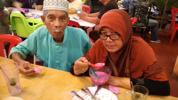 Atok and Opah and ais kacang