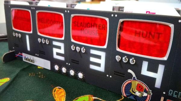 Close up of our Decrypto console