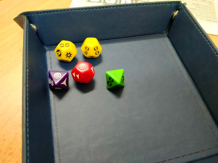 Dice roll during battle