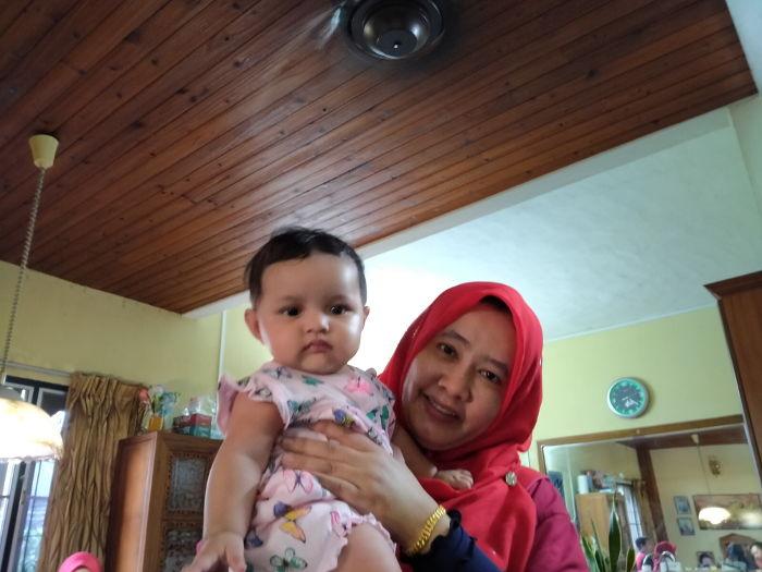 Visiting babby