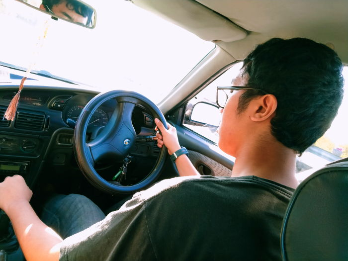 Irfan at the wheel