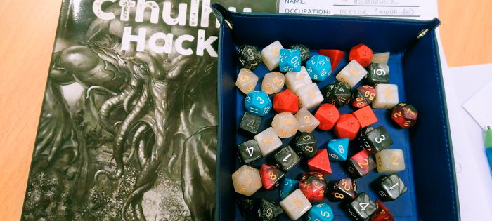 Cthulhu Hack and dice