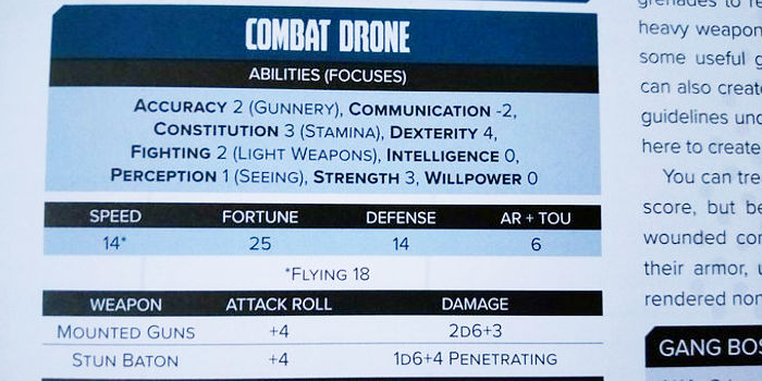 Drone stats