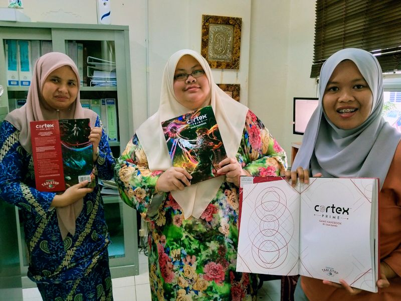 Yan, Nana and Farah with Cortex Prime