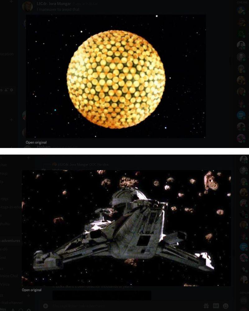Fesarius-type and Cleoponji-type starships